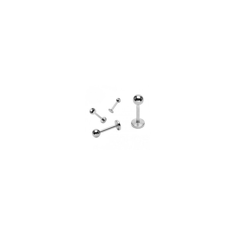Piercing labret lévre boule acier 10mm Pias Piercing labret1,99€