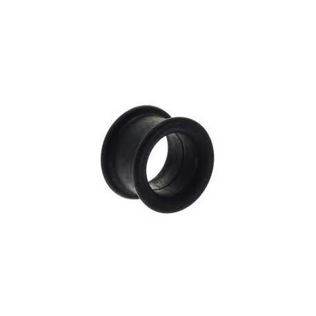 Piercing tunnel silicone noir 16mm Pital PLU027