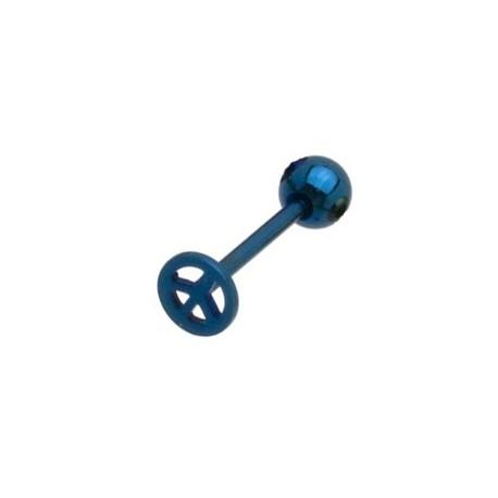 Piercing langue bleu peace Yone Piercing langue4,85€
