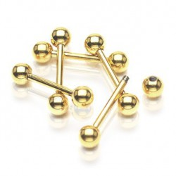 Piercing téton doré 14mm boules 5mm Syxo Piercing téton3,90€