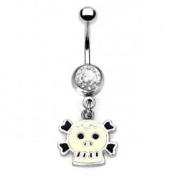 Piercing nombril tête de mort noire et blanche Piercing nombril6,85€