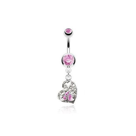 Piercing nombril vintage cœur rose Kugro Piercing nombril6,49€