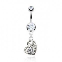 Piercing nombril vintage cœur blanc Kygra Piercing nombril6,49 €