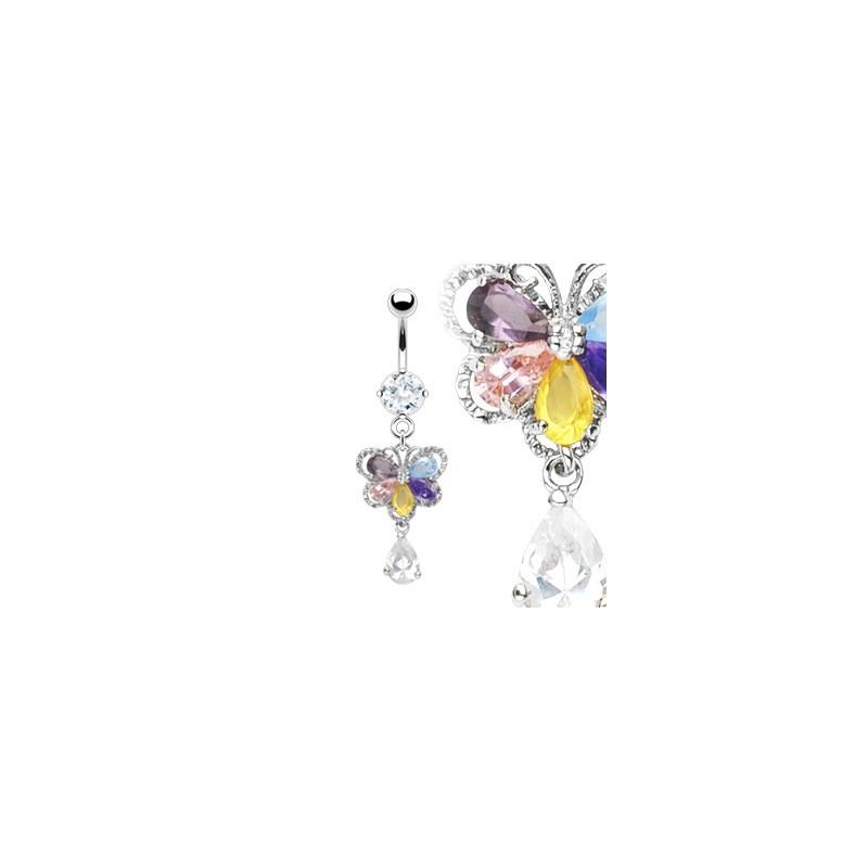 Piercing nombril avec un papillon arc en ciel Wiux Piercing nombril12,49€