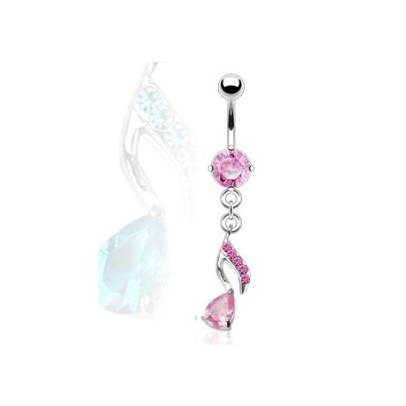 Piercing nombril avec note de musique rose Syty Piercing nombril8,40€