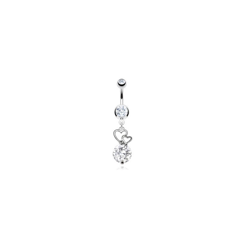 Piercing nombril avec double cœurs blanc Zor Piercing nombril7,85 €