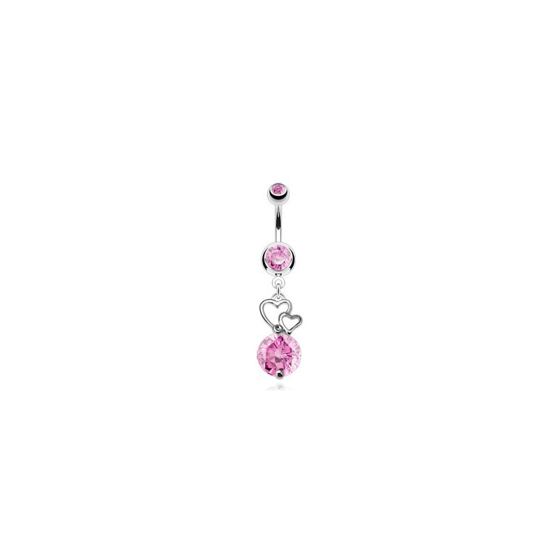 Piercing nombril avec double cœurs rose Zur Piercing nombril7,85 €
