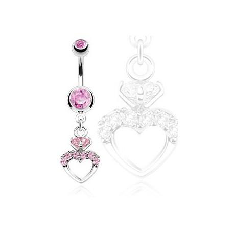 Piercing nombril cœur zirconium rose Kaz Piercing nombril8,40€