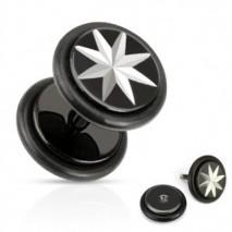 Faux piercing plug acier noir étoile Wera Faux piercing4,85€