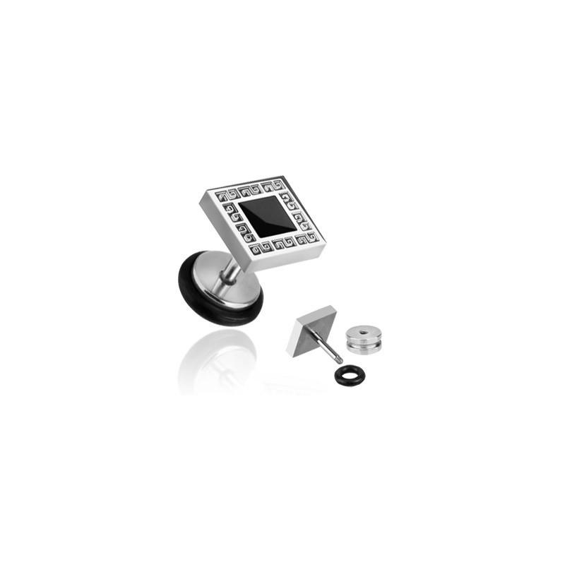 Faux piercing d'oreille plug avec gravure square Goty Faux piercing6,49€