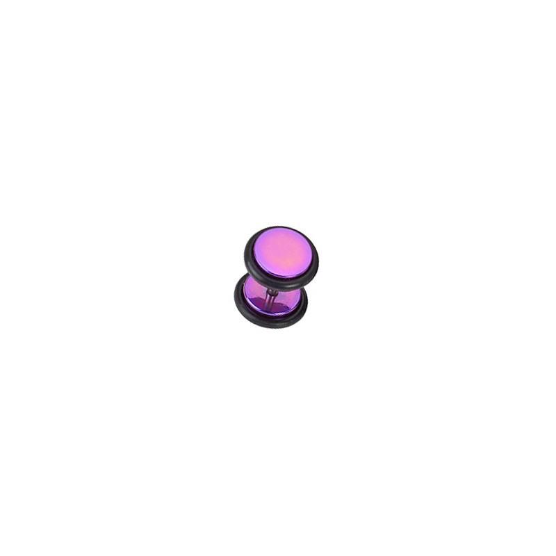 Faux piercing plug acier violet anodisé Gar Faux piercing4,80€
