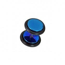 Faux piercing plug acier anodisé bleu Gadu FAU119