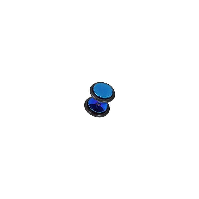 Faux piercing plug acier anodisé bleu Gadu Faux piercing4,80€