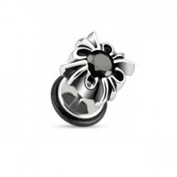 Faux piercing tribal et zirconium noir Xur FAU120