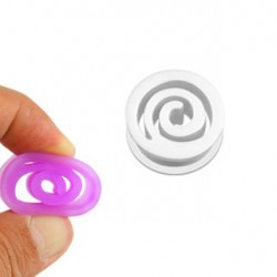 Piercing tunnel spirale silicone blanc 8mm Pef PLU072