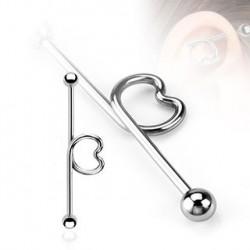 Piercing industriel looping coeur 35mm Pour IND059