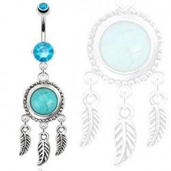 Piercing nombril capteur de rêve et turquoise bleu Piercing nombril9,80€