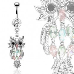 Piercing nombril avec un hibou et crystals blanc Kat Piercing nombril10,60 €