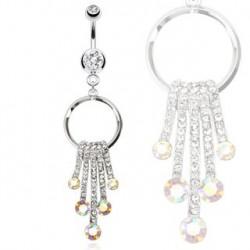 Piercing nombril chute de perles d'eau Fud NOM326