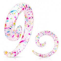 Piercing corne oreille 3mm multi couleurs Sid