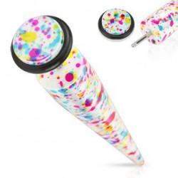 Faux piercing écarteur multi couleurs Grut FAU129
