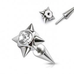 Faux piercing blanc écarteur pointes Pinut FAU132