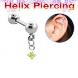 Piercing hélix carré vert péridot Kent Piercing oreille5,90€