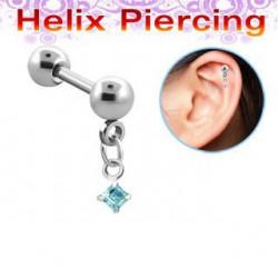 Piercing hélix carré bleu aqua Kont Piercing oreille5,90€