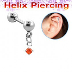 Piercing hélix carré orange Kynot HEL013