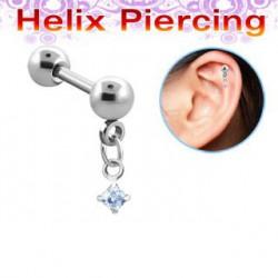 Piercing hélix carré lavande Kynit HEL013