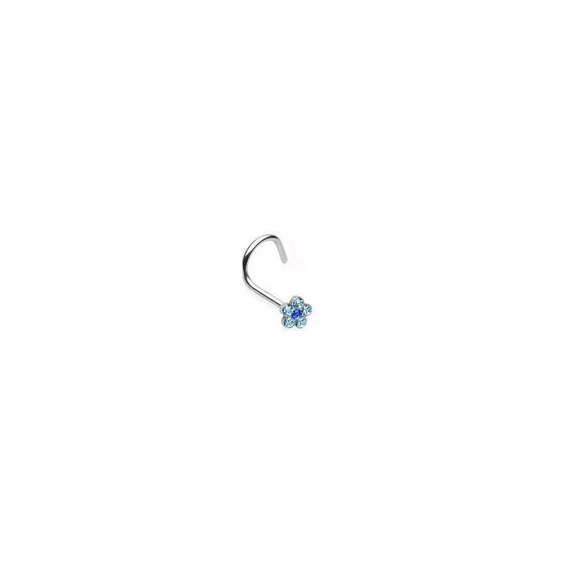 Piercing nez fleur bleu Mekhla Piercing nez3,20€