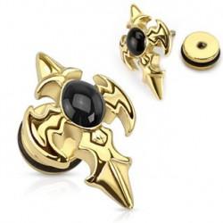 Faux piercing d'oreille doré avec croix tribal Xar Faux piercing4,60€