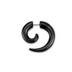 Faux piercing écarteur corne noire Wyr FAU149