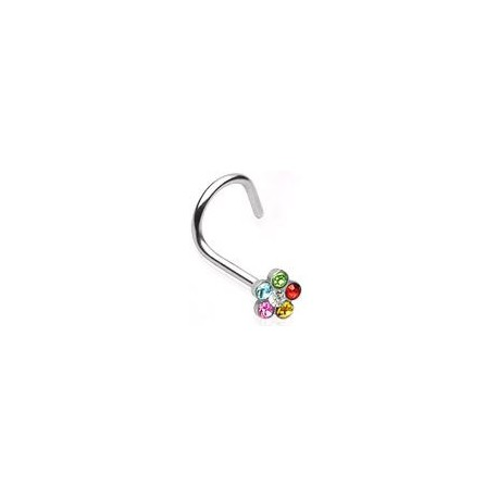 Piercing nez fleur arc en ciel Muoi NEZ001