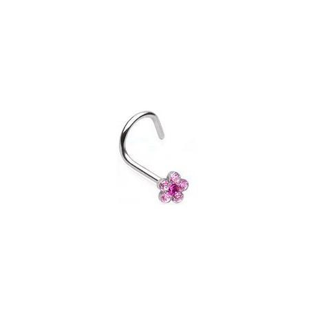 Piercing nez fleur rose Nisitar NEZ001