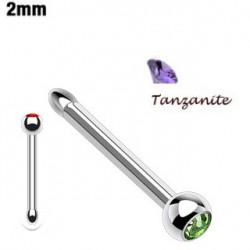 Piercing nez boule cristal tanzanite Furia NEZ062