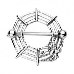 Piercing téton bouclier araignée Paz TET052