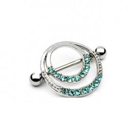 Piercing téton couronne romantique bleu Nis