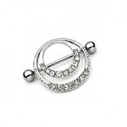 Piercing téton couronne romantique blanc Nys