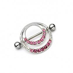 Piercing téton couronne romantique rose Nya