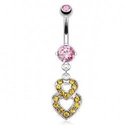 Piercing nombril cœurs entrelacés et doré Kater Piercing nombril8,40€