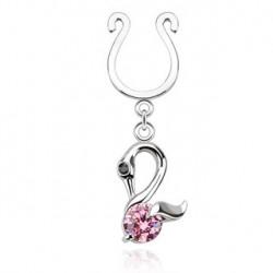 Faux piercing téton cygne rose Juta TET059