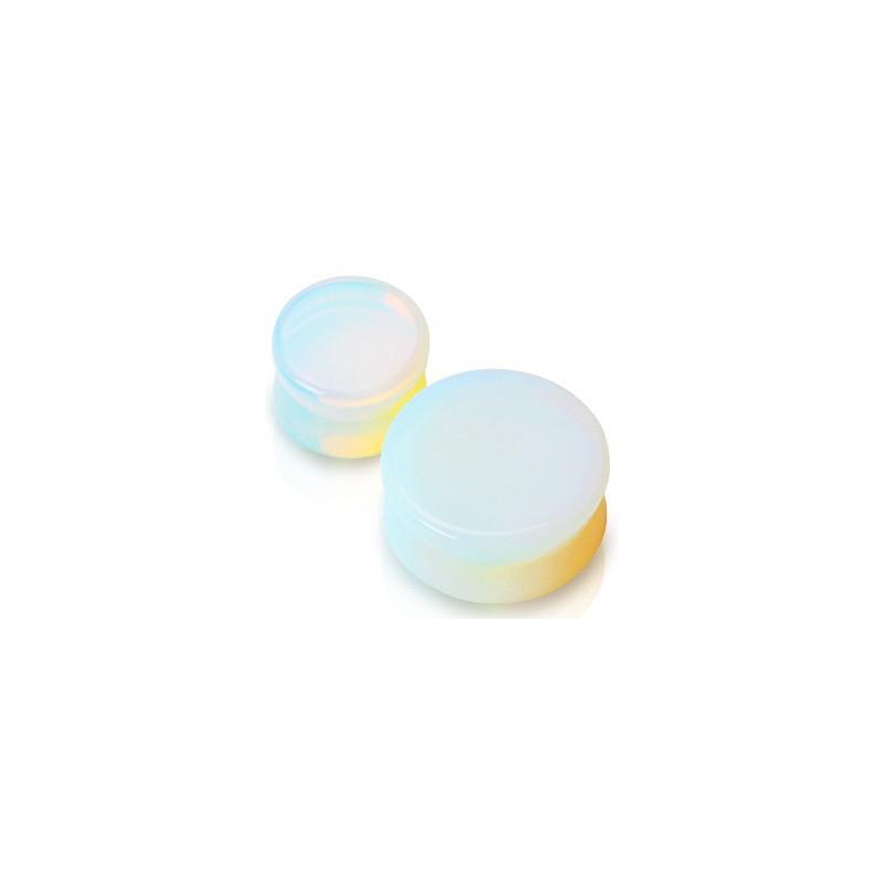 Piercing plug pierre opaline 4mm Soon Piercing oreille3,90€