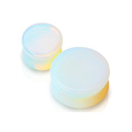 Piercing plug pierre opaline 10mm Sunit PLU003