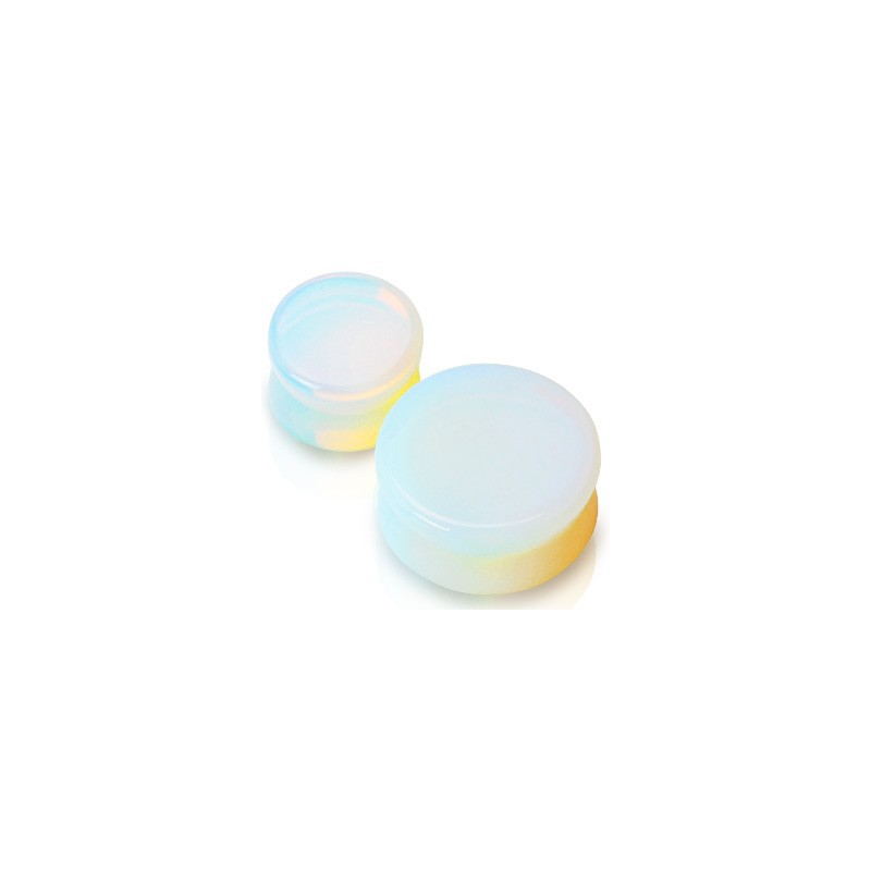 Piercing plug pierre opaline 19mm Soram Piercing oreille6,49€
