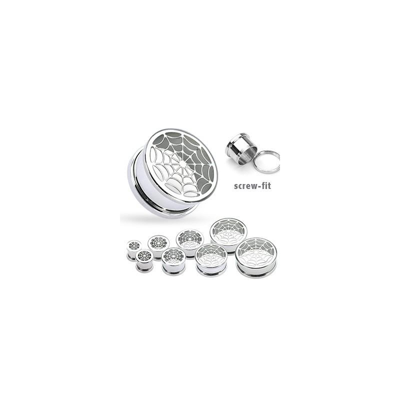 Piercing tunnel acier toile 8mm Siat Piercing oreille5,99€