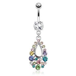 Piercing nombril pendentif en forme de larme en zirconium Oxy Piercing nombril9,20€