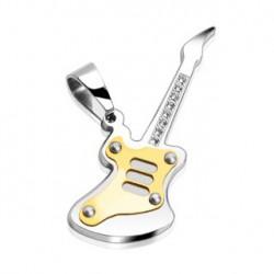 Pendentif guitare doré avec zirconium faz PEN001