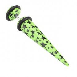 Faux piercing d'oreille avec écarteur vert et étoiles noire Graf Faux piercing3,49€