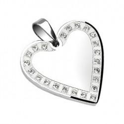 Pendentif en forme de cœur et zirconium Vez Bijoux14,80€